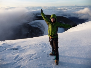 Adriana reached the Summit of Cotopaxi